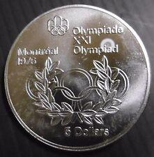 CANADA - 5 DOLLARS 1976 - JO MONTREAL 76 - ELIZABETH II - Argent