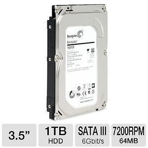 "Seagate 1 TB SATA 3.5"" internal Desktop Hard Disk   (ST1000DM010)"