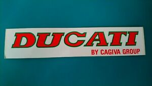 Autocollant-sticker-vintage-publicitaire-Ducati-by-Cagiva-Group