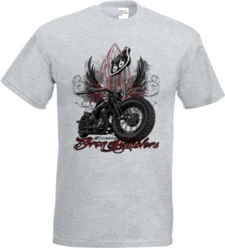 T Shirt en el Ashton HD V Twin Biker Chopper /& old schoolmotiv modelo Iron rumblers
