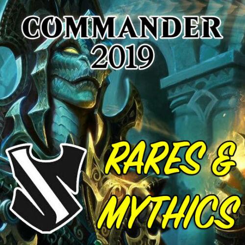 Magic the Gathering MTG Commander 2019 C19 Mythic Rares /& Rare Cards NM//M