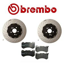 2016 Mercedes AMG GT S Set of 2 Front Brembo Disc Rotors and Genuine Brake Pads