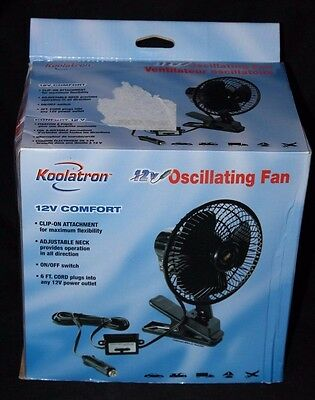 Koolatron 12v Comfort Oscillating Fan #40113 Dependable Performance Consumer Electronics Vehicle Electronics & Gps
