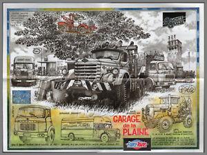 Poster Camion Retro Garage De La Plaine N 817 Depanneuse Diamond T