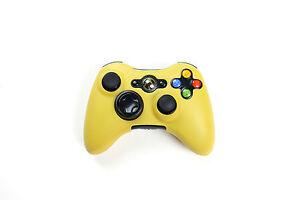Xbox-360-Silikon-Schutzhuelle-Controller-Huelle-fuer-Xbox-360-Neu-Gelb