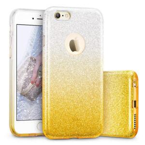 COVER Custodia Glitter GRADIENTE Morbida GEL Silicone per APPLE