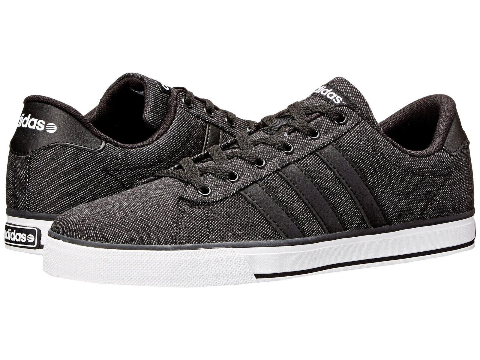 Men Adidas Se Daily Vulc Sneaker Canvas F76263 Black White 100% Authentic New