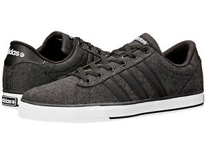 185dcd053ed3 Men Adidas Se Daily Vulc Sneaker Canvas F76263 Black White 100 ...