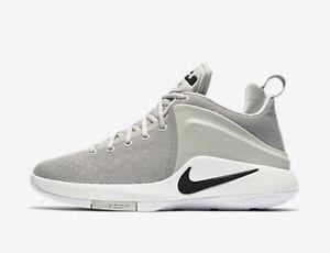 Nike Men's ZOOM WITNESS New LeBron Pale Grey/Black Basketball Shoes 852439 011