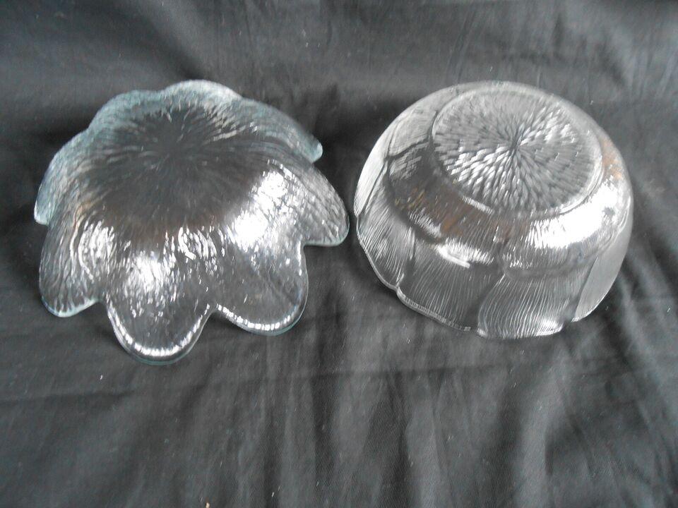 Glas, 2 skåle, Holmegaard