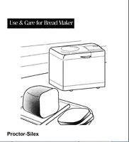 Proctor Silex Bread Machine Manual 80120, 80139, 80140