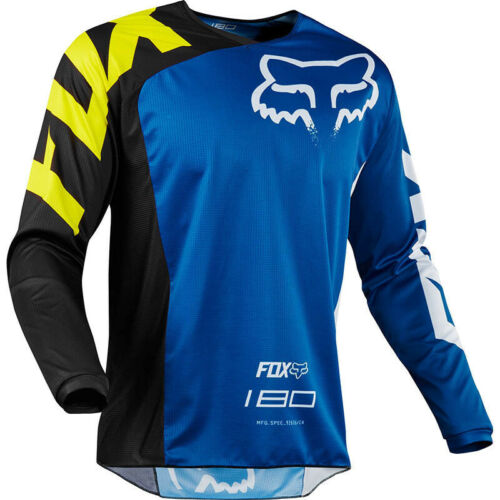 New style Mens FOX Jersey Long Sleeve Mountain Bike MTB Trail Bicycle Racing Top