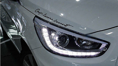 (Fits: Hyundai ACCENT SOLARIS 2011 2012 2013) LED Projection Day Light Head Lamp