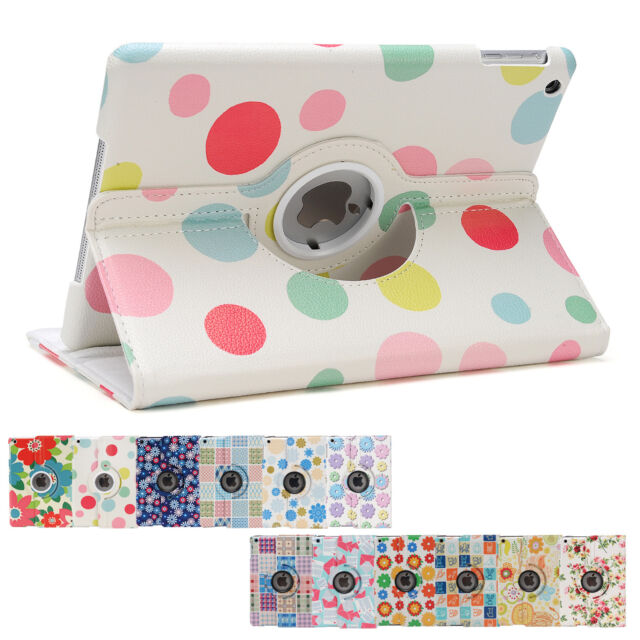 360 Rotating Flower Smart Cover Case for iPad Air 2