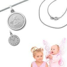 Baby Kinder moderner farbiger Schutz Engel Anhänger mit Kette wählbar Silber 925