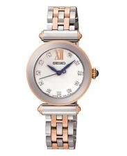 Seiko SRZ400P1 Ladies Two Tone Rose Gold Tone Swarovski Set Dress Watch RRP £269
