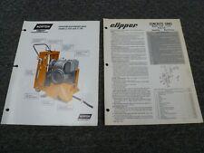 Norton Clipper C141 C101 Concrete Saw Parts Catalog Amp Owner Operator Manual
