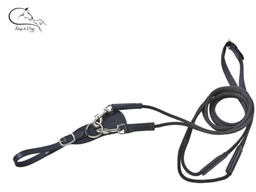Busse Leather//Cord  Draw Reins Black Pony Full FREE DELIVERY