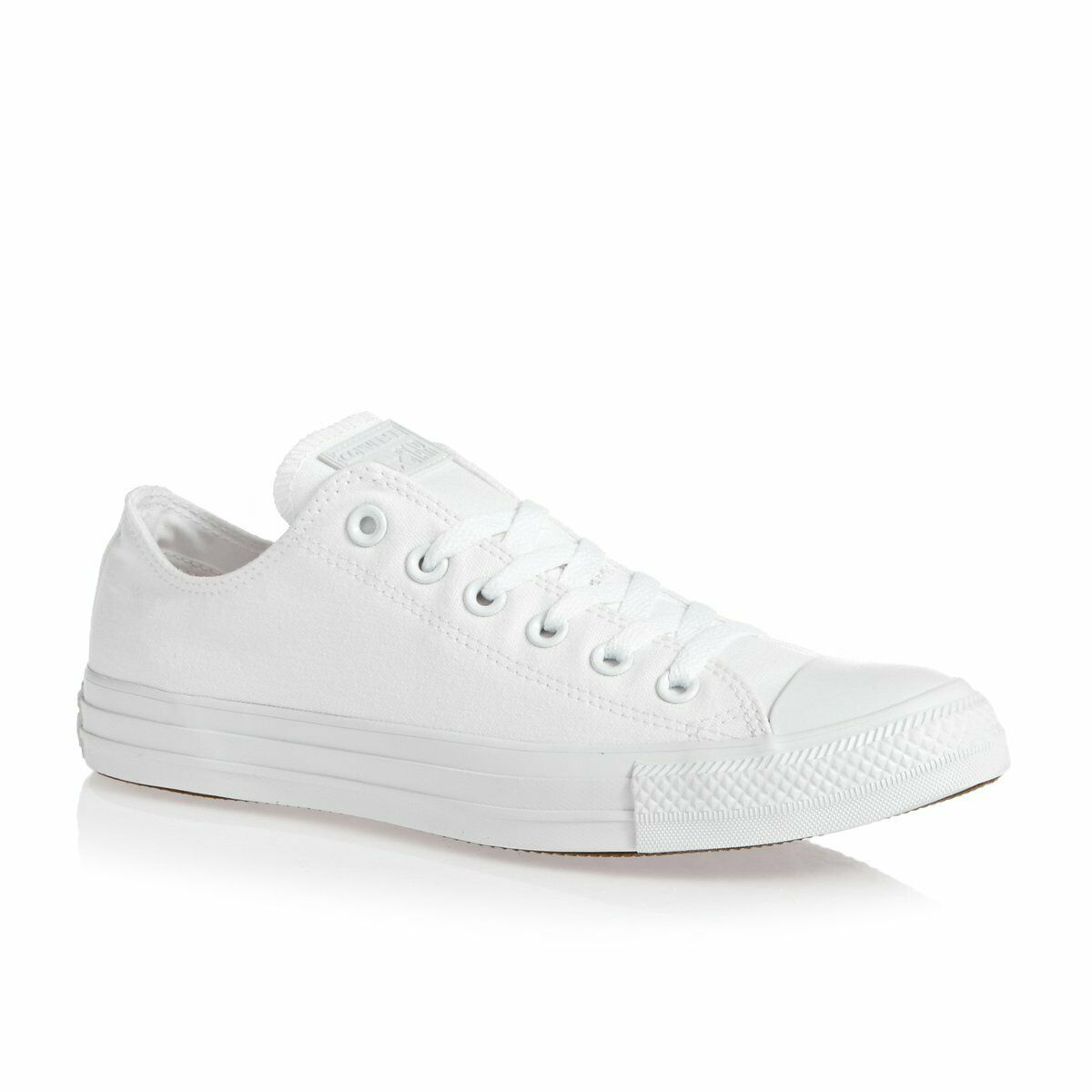 Converse All Star ox Canvas Womens & Mens Trainers shoes White Mono