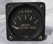WW 2 USN Grumman F6F Hellcat Fighter Water Injection Tank Gauge Instrument