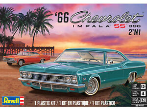 Revell-1966-Chevy-Impala-SS-396-2N1-1-25-scale-model-car-kit-new-4497