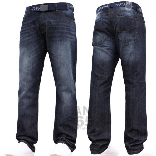 New Mens Branded Designer Regular Fit Straight Leg Denim Jeans Pants Waist Size