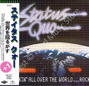 STATUS QUO ROCKIN' ALL OVER THE WORLD CD MINI LP OBI Rossi Bown Edwards Malone