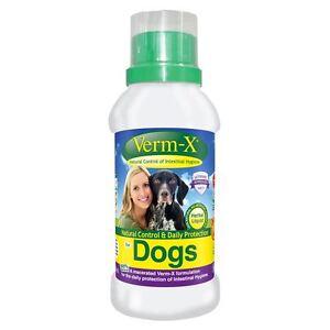 Verm-x Herbal Liquid Pour Chiens Animaux Domestiques Vermifuges / Endoparasites tels que fournis