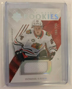 2018-19-UD-Ultimate-Rookies-jersey-Chicago-Blackhawks-Dominik-Kahun-160-399