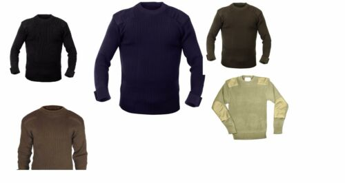 MILITARY ARMY MARINES NAVY STYLE COMMANDO SWEATER ALL COLORS ALL SIZES
