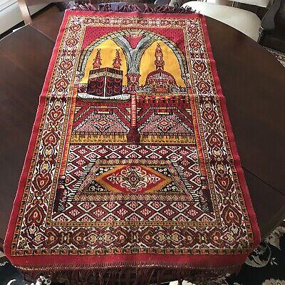 Antique Vtg Persian Prayer Mat Rug Saudi Arabi Muslim 50 X 24 Ebay