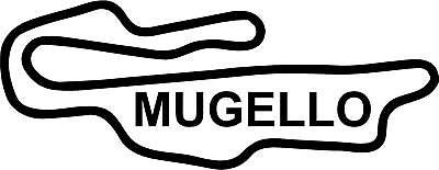 """Adhesive Decal 3D Sticker Resin Domed Mugello Circuit  12x9 cm 4.72x3.54 /"""""""