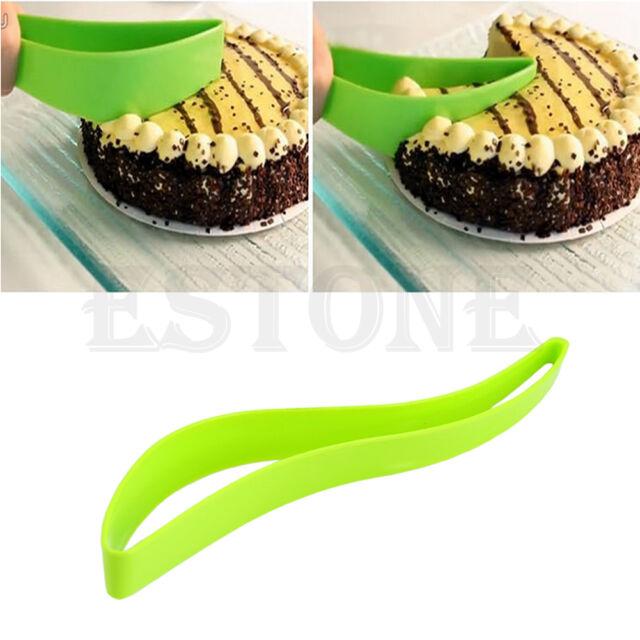 New Cake Pie Slicer Sheet Guide Cutter Server Bread Slice Knife Kitchen Gadget