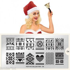 MoYou-London-FESTIVE-4-Collection-Stamping-Schablone-Weihnachten-ugly-sweater