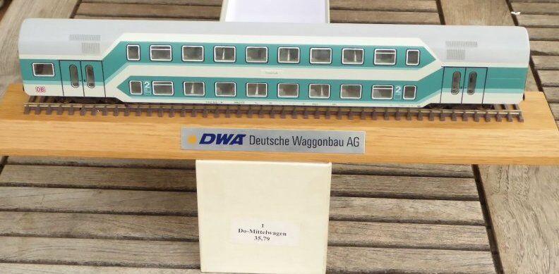 Sachsenmodelle Vagón de doble Estiba Vehículo PUBLICITARIO a escala DWA Alemán