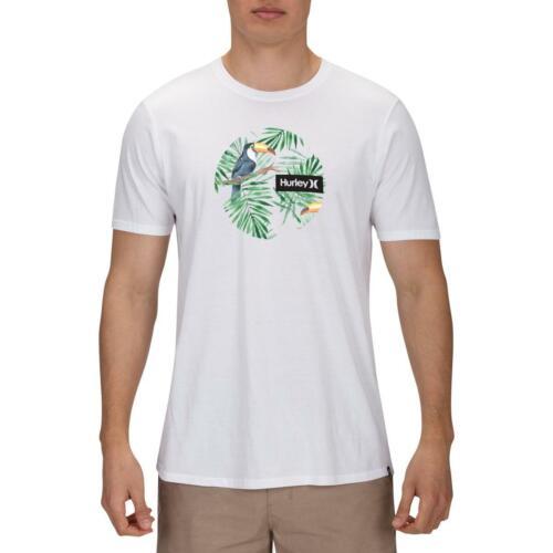 Hurley Mens White Cotton Crew Neck Graphic T-Shirt Top XXL BHFO 0317