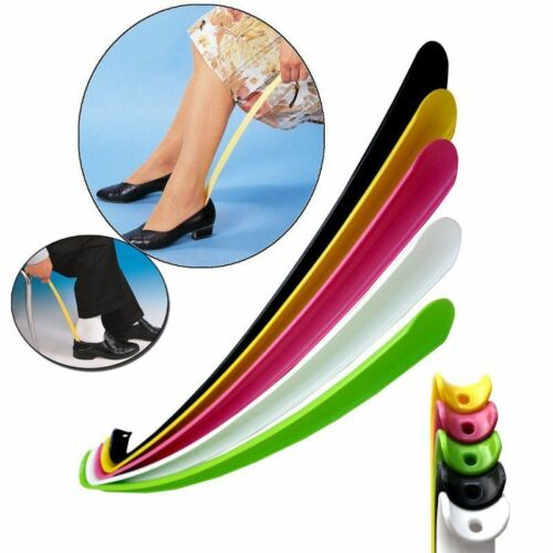 57cm Durable Long Handle Shoehorn Shoe Horn Lifter Disability Aid Flexible Stick