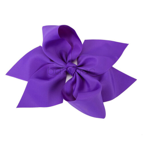"10/"" Girls Kids Big Hair Bows Boutique Ribbon Hair Clips Double Layer Headwear"