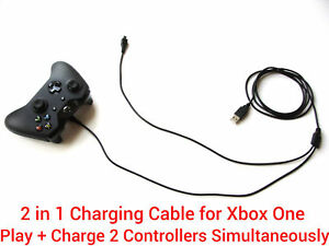 3M-Long-2in1-Charging-Lead-Cable-Play-amp-Charge-2-Controllers-Pad-for-Xbox-One