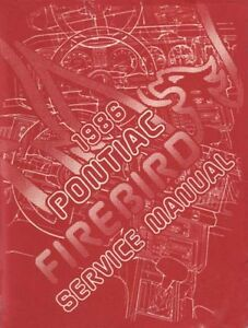 Enjoyable 1986 Pontiac Firebird Trans Am Shop Service Repair Manual Engine Wiring Database Brom4X4Andersnl