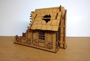28mm-Fantasy-Tudor-Style-Small-House-T4B-Ruin-2mm-MDF-Laser-Cut-Kit