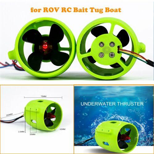 For ROV RC Bait Tug Boat 12V-24V Underwater Thruster Motor 4 Blades Propeller