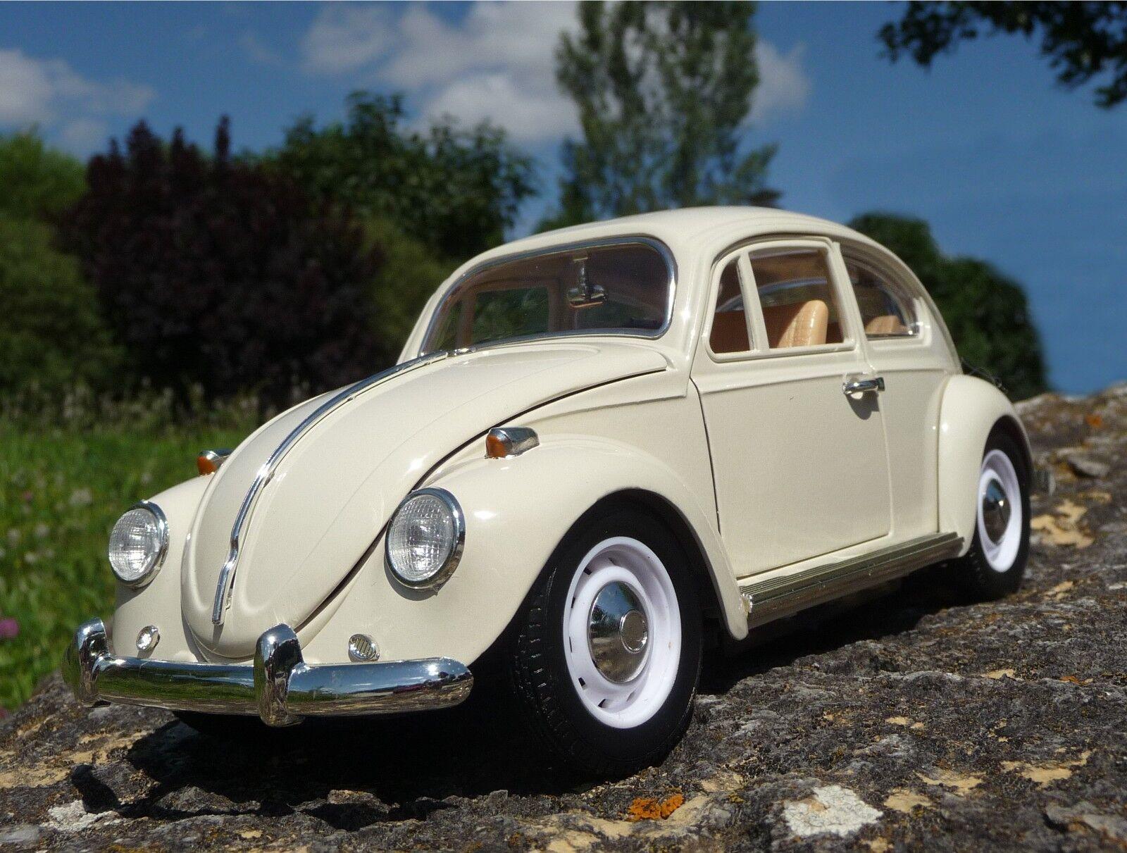 consegna gratuita RC VW Maggiolino modellololo 1300 1300 1300 classeic in crema lunghezza 23cm da postazione remota 40mhz 403031  miglior reputazione