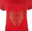 Plus-Size-Ladies-Short-Sleeve-Leopard-Print-Stud-Heart-Long-T-Shirt-Casual-Top thumbnail 15