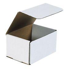 50 Of 6 X 3 58 X 2 Small White Cardboard Carton Mailer Shipping Box Boxes
