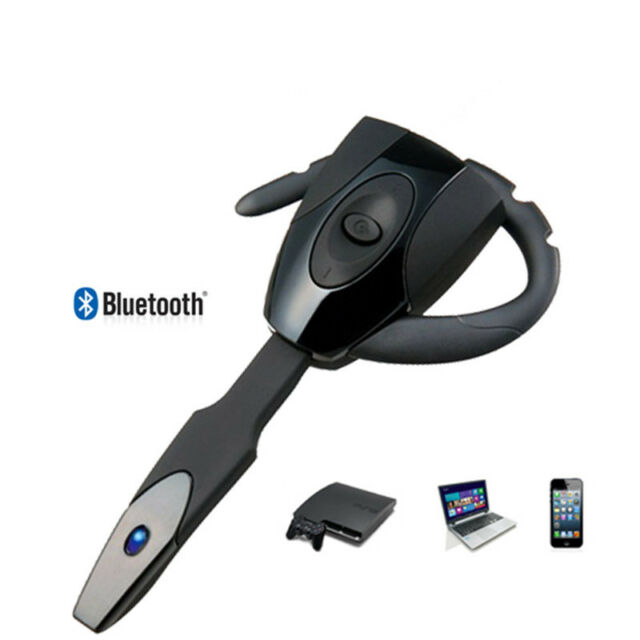 1X For Sony PS3 Gaming Playstation Black Wireless Bluetooth Headset Headphone