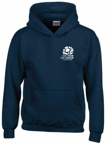 One Team One Dream Scotland Rugby Six Nations 2020 Hoodie Kids