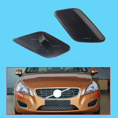 Front Right Bumper Headlamp Headlight Washer Cover Lid For Volvo S60 2011-2013