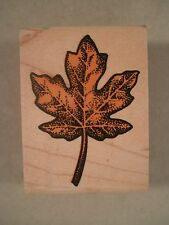 Maple Leaf Wood Mounted Rubber Stamp, Rubber Stampede, Fall, Leaves, Tree