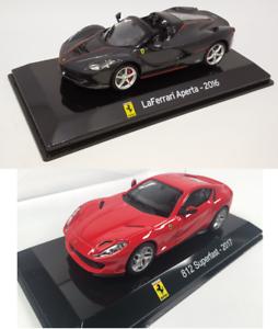 LaFerrari 1//43 IXO Miniature Supercar LSC1 Lot de 2 Voitures Ferrari 812